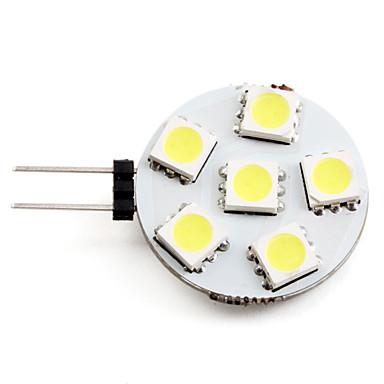2 W 2700 lm G4 LED Σποτάκια 6 LED χάντρες SMD 5050 Φυσικό Λευκό 12 V / #