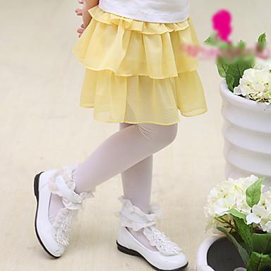 jaune jupe polka en mousseline de soie