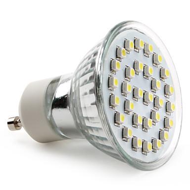 gu10 led spotlight mr16 30 smd 3528 90lm luonnonvalkoinen 6000k ac 220-240v