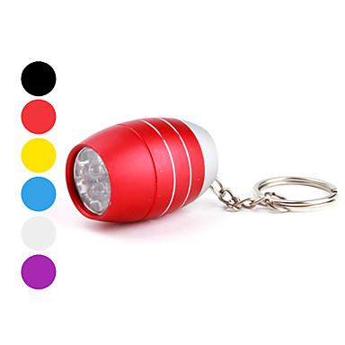 Lampes de poche Porte-clés LED 1 Mode 50 Lumens Ultra léger / Taille Compacte / Petit Autres CR2032 Autres ,Noir / Bleu / Vert / Orange /