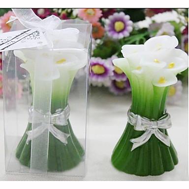 녹색 calla의 촛불 부탁 (4 세트)