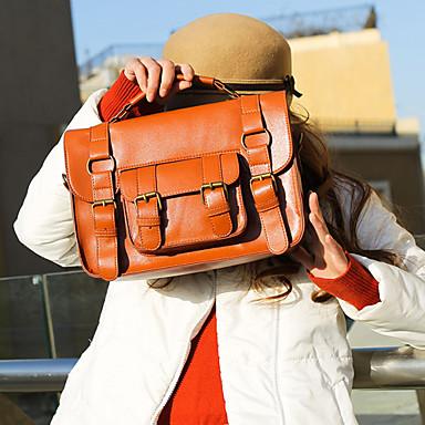 Stylish Ladies' Candy Color PU Shoulder Bag/Clutch(29cm*9cm*21cm)