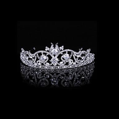 lyxiga cubic zirconia och strass domstol brud tiara