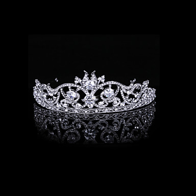 Luxurious Cubic Zirconia And Rhinestone Court Bridal Tiara