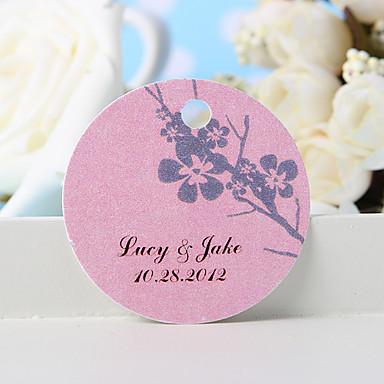 kişiselleştirilmiş lehçe etiketi - erik çiçeği (36 kümesi) düğün iyilikleri