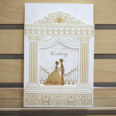 elegant trifolded bröllop inbjudan - uppsättning av 50