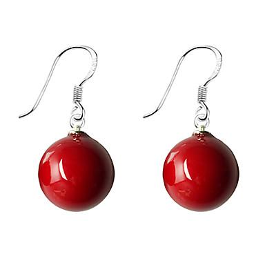 Damen lieblich Kugel Perle Künstliche Perle 1 1 Paar Tropfen-Ohrringe - Einfach Grundlegend Süß Rot Blau Kreisförmig Ohrringe Für