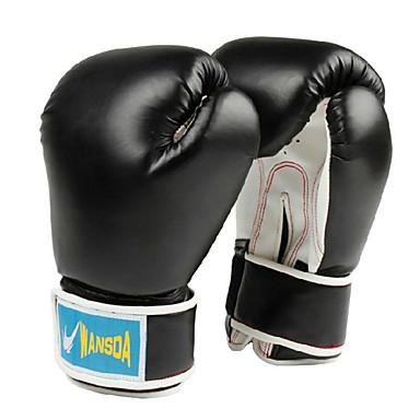 guantes de boxeo del dedo completo espesar internamente (colores aleatorios) (tamaño medio)