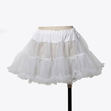 Prinsessa Klassisk / Traditionell Lolita Organza Dam Underkjol Cosplay Kort längd Halloweenkostymer