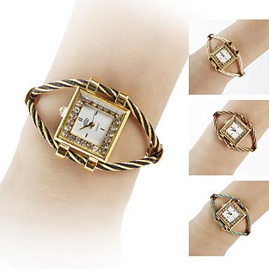Dámské Módní hodinky Náramkové hodinky imitace Diamond Křemenný Kapela Černá Bílá Modrá Červená Růžová Fialová