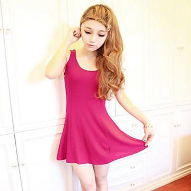 Slimming Tunic Knit Vest Sheath Dress