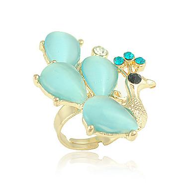 Elegant Alloy pauw Shape Crystal Fashion Ring (meer kleuren)