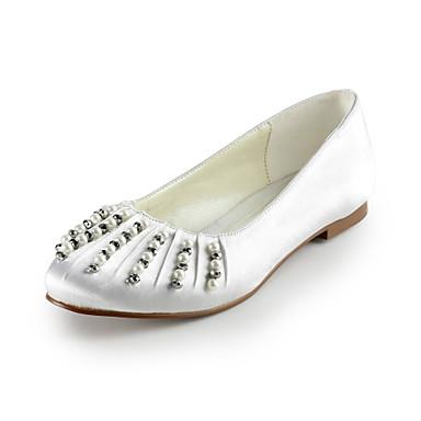 chaussures pour femmes chaussures de confort appartements de satin de mariage de talon plat plus de couleurs disponibles