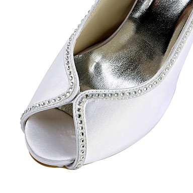 amp; Soirée Satin Talon Evénement Elastique 00959108 Ivoire Strass Satin Eté Aiguille Rose Champagne Printemps Femme Chaussures Mariage SWwFA1q1g