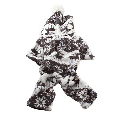 David's Deer Soft Hoodie with Pants for Dogs (XS-XL)