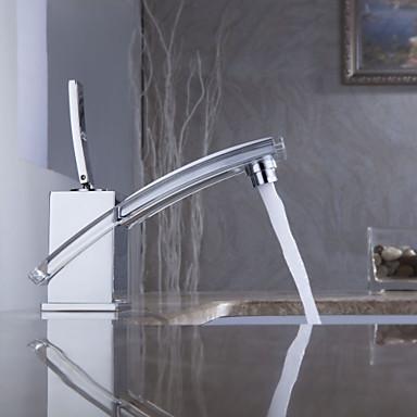 Torneira de Pia de Banheiro Sprinkle® Moderna (Acabamento Cromado)