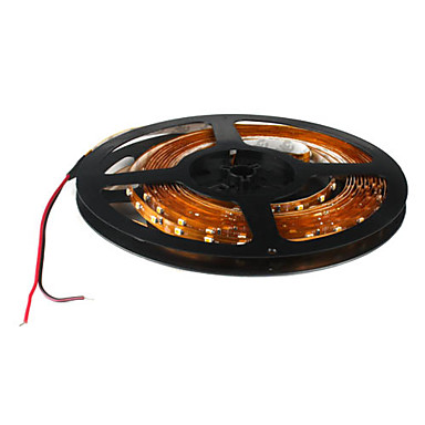 5m Esnek LED Şerit Işıklar 300 LED'ler 3528 SMD Sıcak Beyaz 12 V / IP44