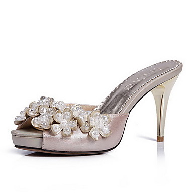 Elegant Leather Stiletto Heel Sandals/Peep Toe With Rhinestone Party/Evening Shoes (More Colors)