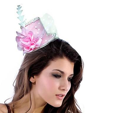 Elegant PVC / Chiffon med fjær / Flower kvinner fascinators