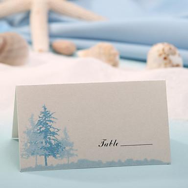 Tischkarte - blauer Baum (12er Set) Tischkartenhalter Hochzeitsempfang