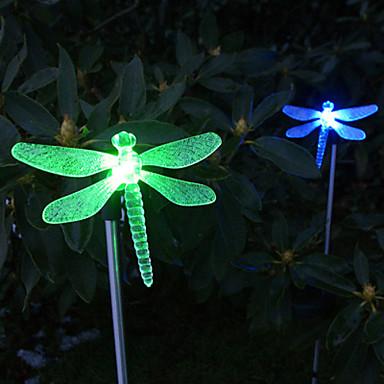 1kpl puutarha Lights / Lawn Valot LED-helmet Teho-LED Helppo asennus / Koristeltu Monivärinen