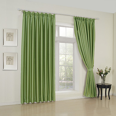 Two Panels Curtain Modern , Solid 65% Rayon/35%Polyester Rayon Material Curtains Drapes Home Decoration For Window
