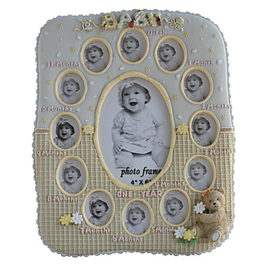 Baby Love Year Polyresin Picture Frame-Two Color Available