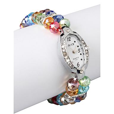 Charming Multicolor Lampwork Glass Oval Women' Watch