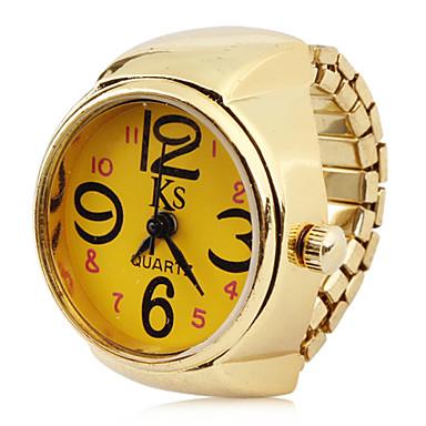Kadın's Quartz Yüzük Saat Japonca Gündelik Saatler Alaşım Bant İhtişam Altın Rengi