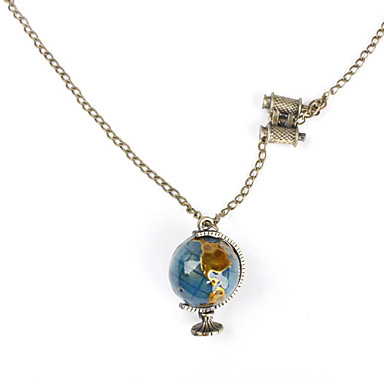 Women's Fashion Pendant Necklace Copper Glass Alloy Pendant Necklace , Daily