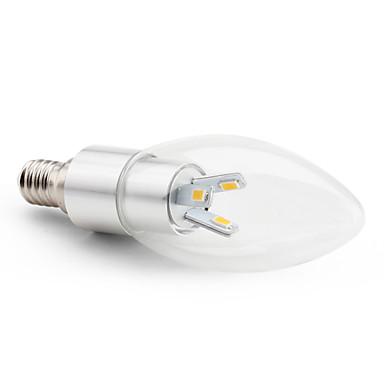 abordables Ampoules électriques-3 W Ampoules Bougies LED 2800 lm E14 C35 6 Perles LED SMD 5630 Décorative Blanc Chaud 220-240 V