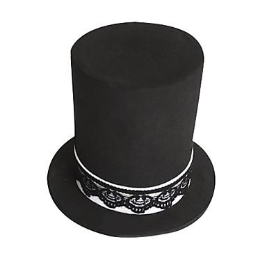 Pălărie/Șapcă Inspirat de Vocaloid Hatsune Miku Anime/ Jocuri Video Accesorii Cosplay Șapcă / Pălărie Negru Poliester Feminin