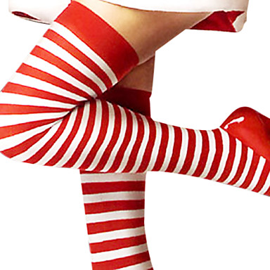 Strümpfe / Strumpfhosen Damen Weihnachten Silvester Fest / Feiertage Austattungen Schwarz und Weiß