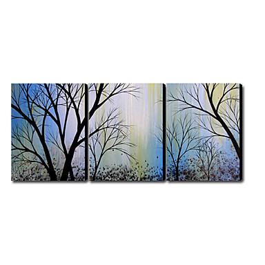 Pictat manual Peisaj Panoramică orizontală pânză Hang-pictate pictură în ulei Pagina de decorare Trei Panouri