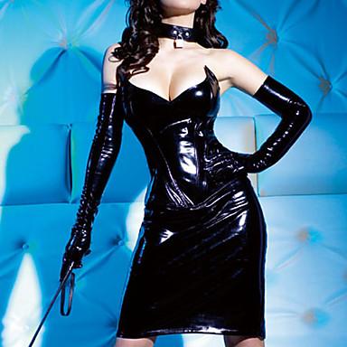 Sleeveless Mini Black PU Gothic Lolita Corset