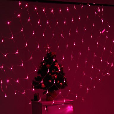 Festival dekoracija 120-LED 8-mode roza svjetlo neto svjetiljke za stranačke vrtne ograde (220v)