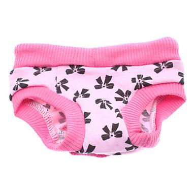 Câine Pantaloni Îmbrăcăminte Câini Nod Papion Roz Costume Pentru animale de companie