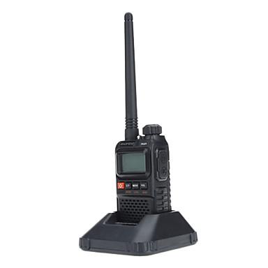 UHF 400-470MHz VHF talkie 136-174MHz walkie cu alarmă de urgență (Vox / radio FM built-in)