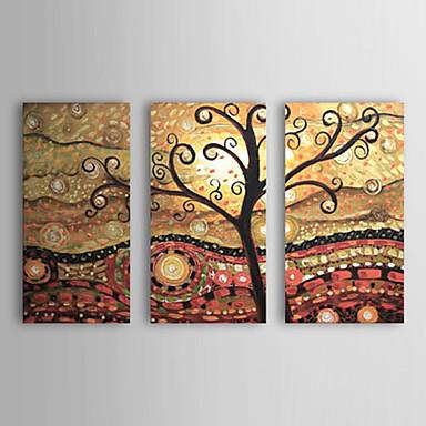 Hang-Painted öljymaalaus Maalattu - Abstrakti Kangas 3 paneeli