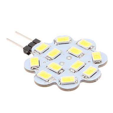 1.5 W 6000 lm G4 LED-lamper med G-sokkel 12 leds SMD 5630 Naturlig hvid DC 12V
