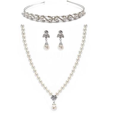 Pentru femei Ștras Imitație de Perle Set bijuterii Include Σκουλαρίκια Coliere Tiare - Aliaj Pentru Nuntă Ocazie specială Aniversare