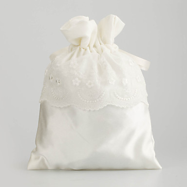 Noble Satin with Lace Wedding Bridal Purse(More Colors)