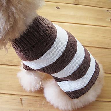 Kissa Koira Neulepaidat Koiran vaatteet Raita Puuvilla Asu Lemmikit Miesten Naisten Pidä Lämmin Muoti