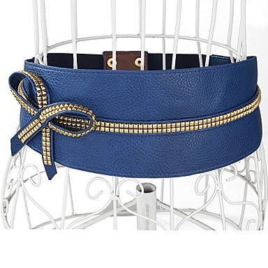 Women's PU Leather Bow Waist Belt(75*10*0.2CM)