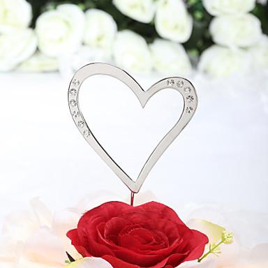 Pasta Üstü Figürler Klasik Tema Kalpler Düğün Yıldönümü Doğumgünü Çeyiz Görme Gençlik Partisi ile Taşlı OPP