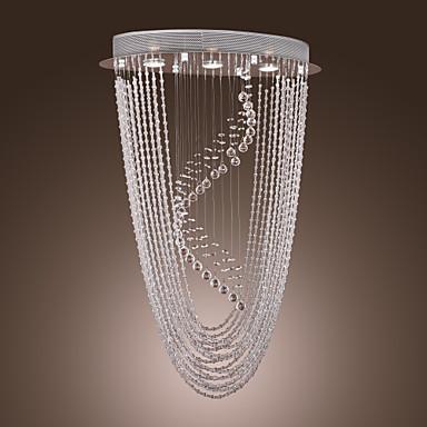 sl® candelabru de cristal contemporan cu 3 lumini - proiectare în formă de liră