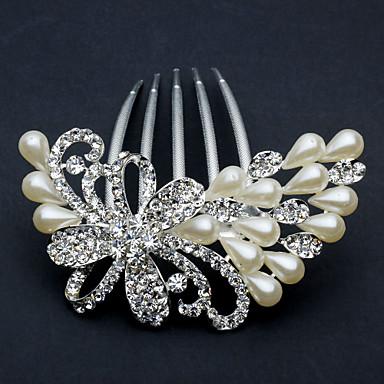 Ženy imitace drahokamu Slitina Imitace perly Přílba-Svatba Zvláštní příležitost Kancelář a kariéra Hřebeny na vlasy