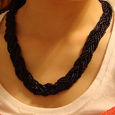 Women's Twill Flower Necklace