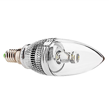 E14 LED Candle Lights C35 1 High Power LED 240 lm Natural White Dimmable AC 85-265 V