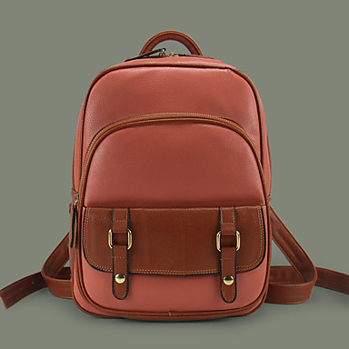 Women's Bags PU Backpack for Casual All Seasons Screen Color